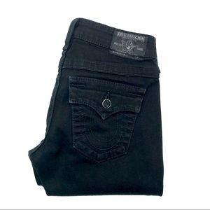 True Religion Black Skinny Jeans, Size 26, EUC